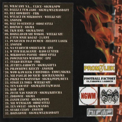 Mixtape Obóz Styli - Mikrofon Płonie vol. II Tył